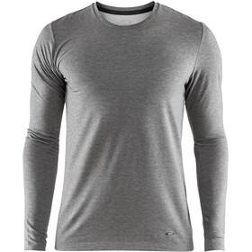 Craft Essential Warm Bluzka z długim rękawem Mężczyźni, dk grey melange